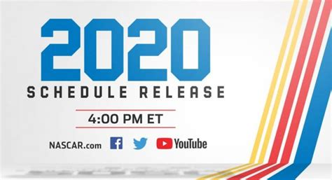 NASCAR Digital to Unveil 2020 Cup Series Schedule with