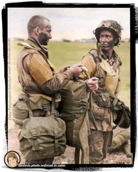 Some of the best colorized images of the Airborne Landings