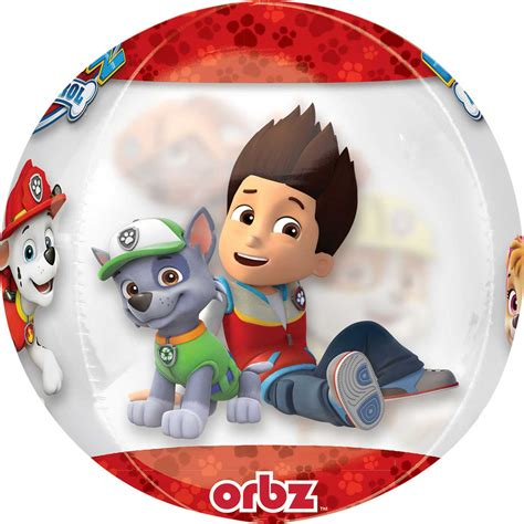 Paw Patrol Chase & Marshall Clear Orbz Foil Balloons 15