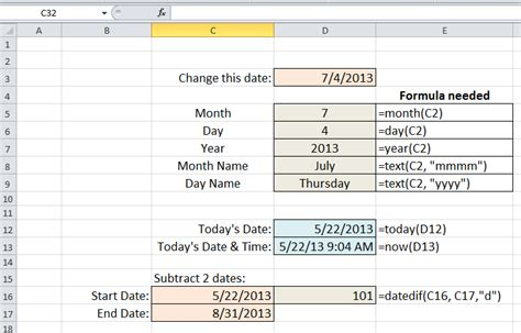 Working with Dates in Excel   UW - Green Bay Computing News