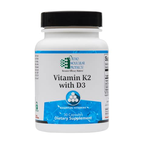 Vitamin K2 with D3 | Ortho Molecular Products