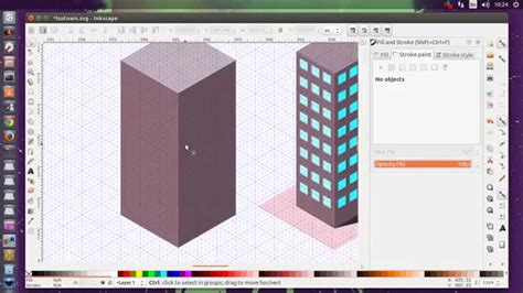 Inkscape Isometric office building tutorial - YouTube