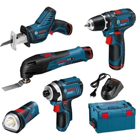 Kit 5 outils 12 V + 3 batteries 2 Ah Lithium-ion