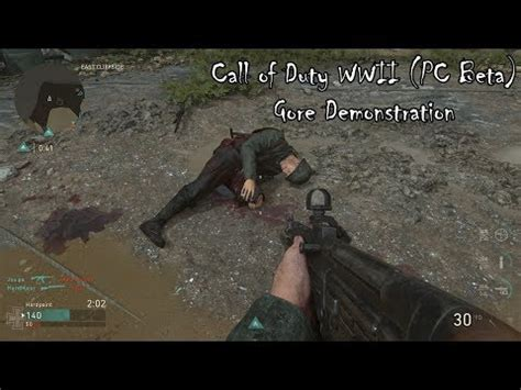 Call of Duty WWII (PC Beta) Gore Demonstration - Lets Play