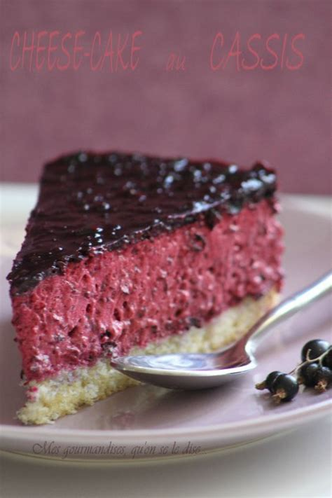 Cheese-cake au cassis