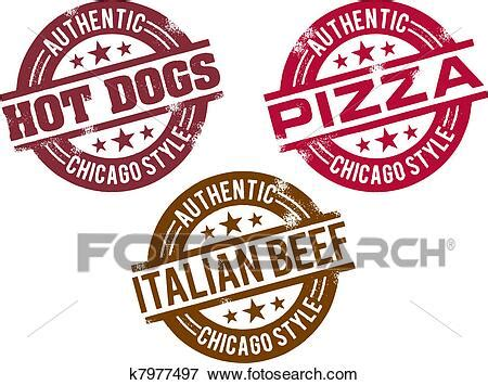 Clip Art of Chicago Hot Dog and Food k7977497 - Search