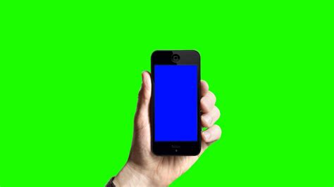 IPHONE on hand in green screen free stock footage - YouTube