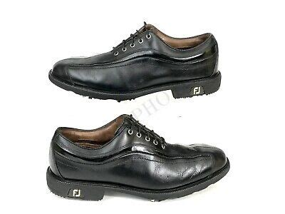 Footjoy Icon Black Mens Golf Shoes 52366 Leather Upper