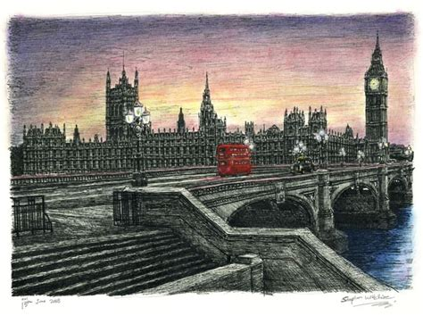 Houses of Parliament in the evening - Limited Edition of