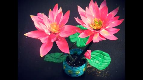 Recycled DIY: How to make LOTUS flowers with waste water