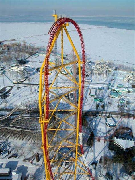 Ohio Record Roller Coaster - 420 Ft High, 120 MPH Down