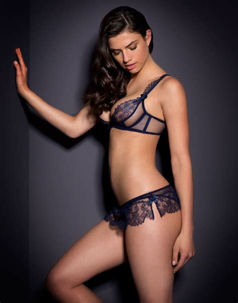Agent Provocateur Willa Ouvert Navy in Blue - Lyst