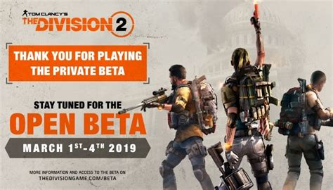 The Division 2 Open Beta to Run from March 1st to March