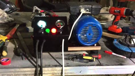 Battery charger using alternator and AC motor - YouTube