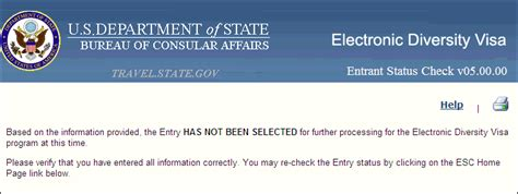 Entry Status | DV-2021 Lottery Home
