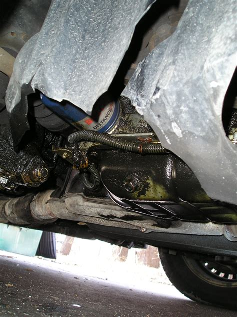 Oil leak from somewhere just behind oil pan passenger side