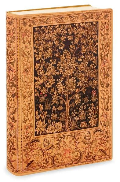 Antique Tree of Life Printed Italian Lined Leather Journal