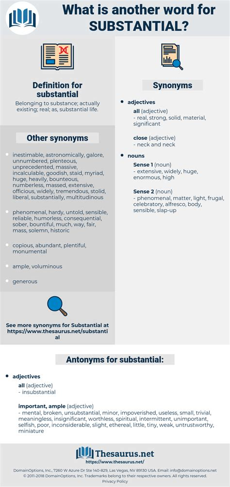 Synonyms for SUBSTANTIAL - Thesaurus
