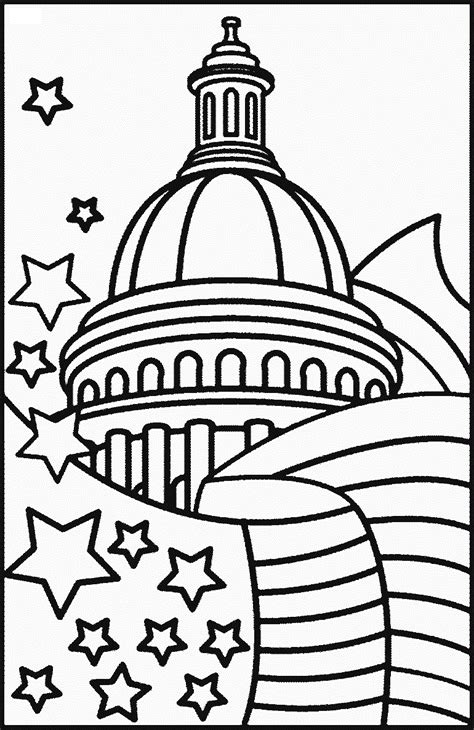 flag day coloring pages - Free Large Images