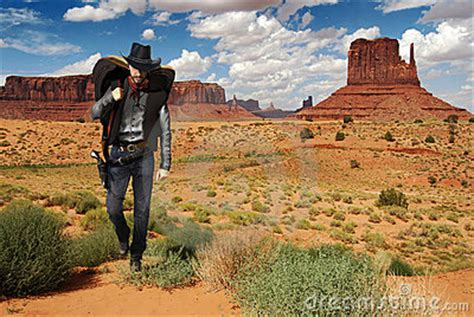 Cowboy Crossing The Desert Stock Images - Image: 16348564
