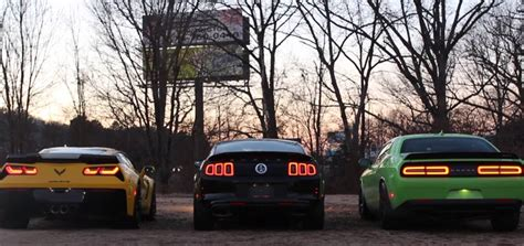 Shelby GT500 Mustang, Dodge Challenger SRT Hellcat and C7