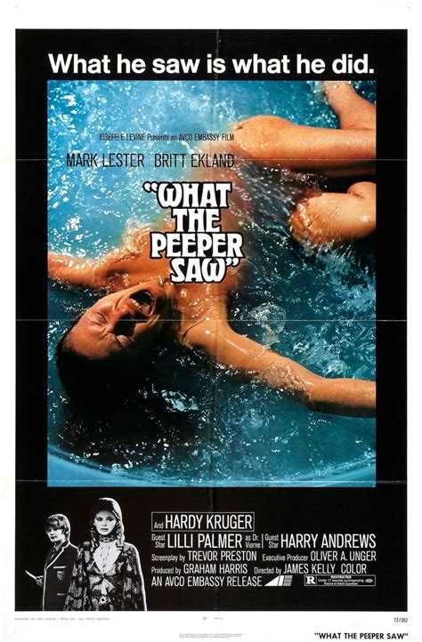 What the Peeper Saw (1972)   Peepers, Movie posters vintage