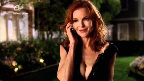 Sexy redhead Marcia Cross showing major cleavage - YouTube