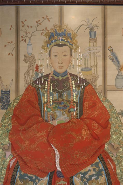A Pair Of Framed Chinese Ancestor Paintings | Lotus