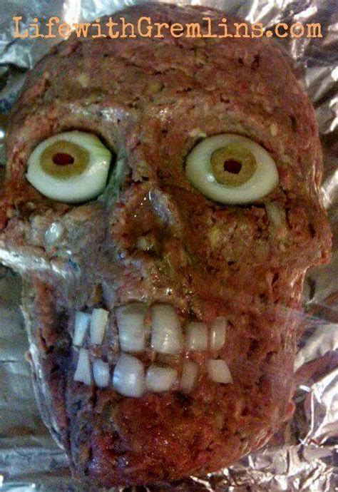 Halloween Party Ideas: Meatloaf Head Recipe - Life with