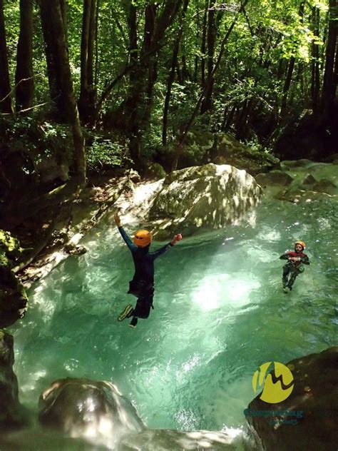 Canyoning à Chaley avec Canyoning Emotions - En : Haut