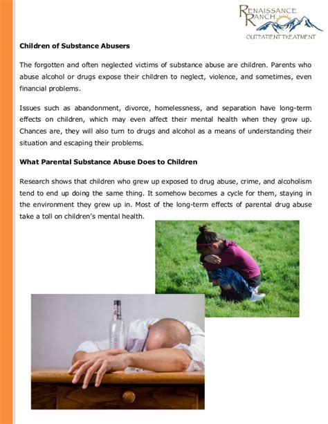 The Effects of Parental Substance Abuse on Children